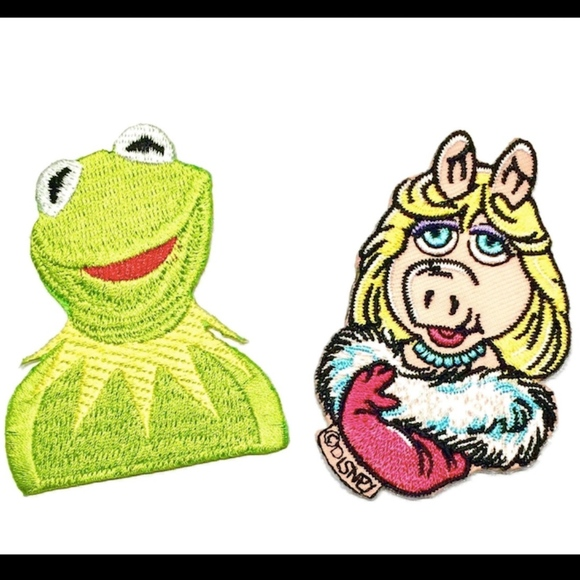 Iron On Patches, Muppets, Miss Piggy, Kermit, DIY Boutique